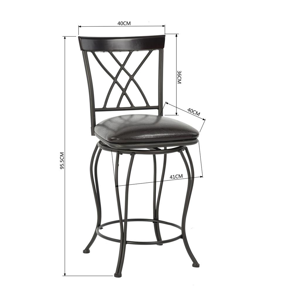 chaise de bar tabouret de bar am ricain r tro vintage pivotant m tal repose pied ebay. Black Bedroom Furniture Sets. Home Design Ideas
