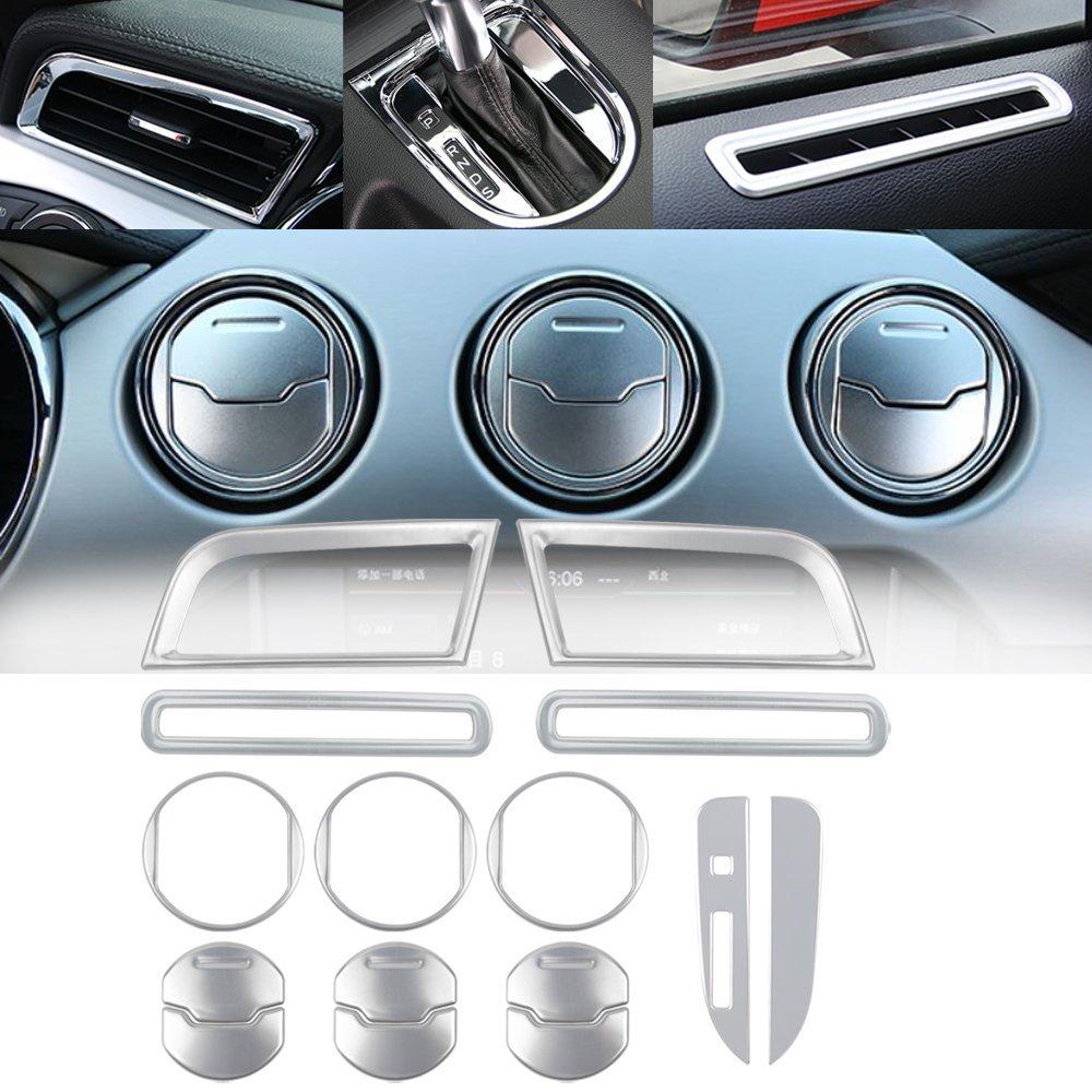 For Jeep Renegade 2015-16 Aluminum Car Central Air Outlet Vents Cover Trims Blue