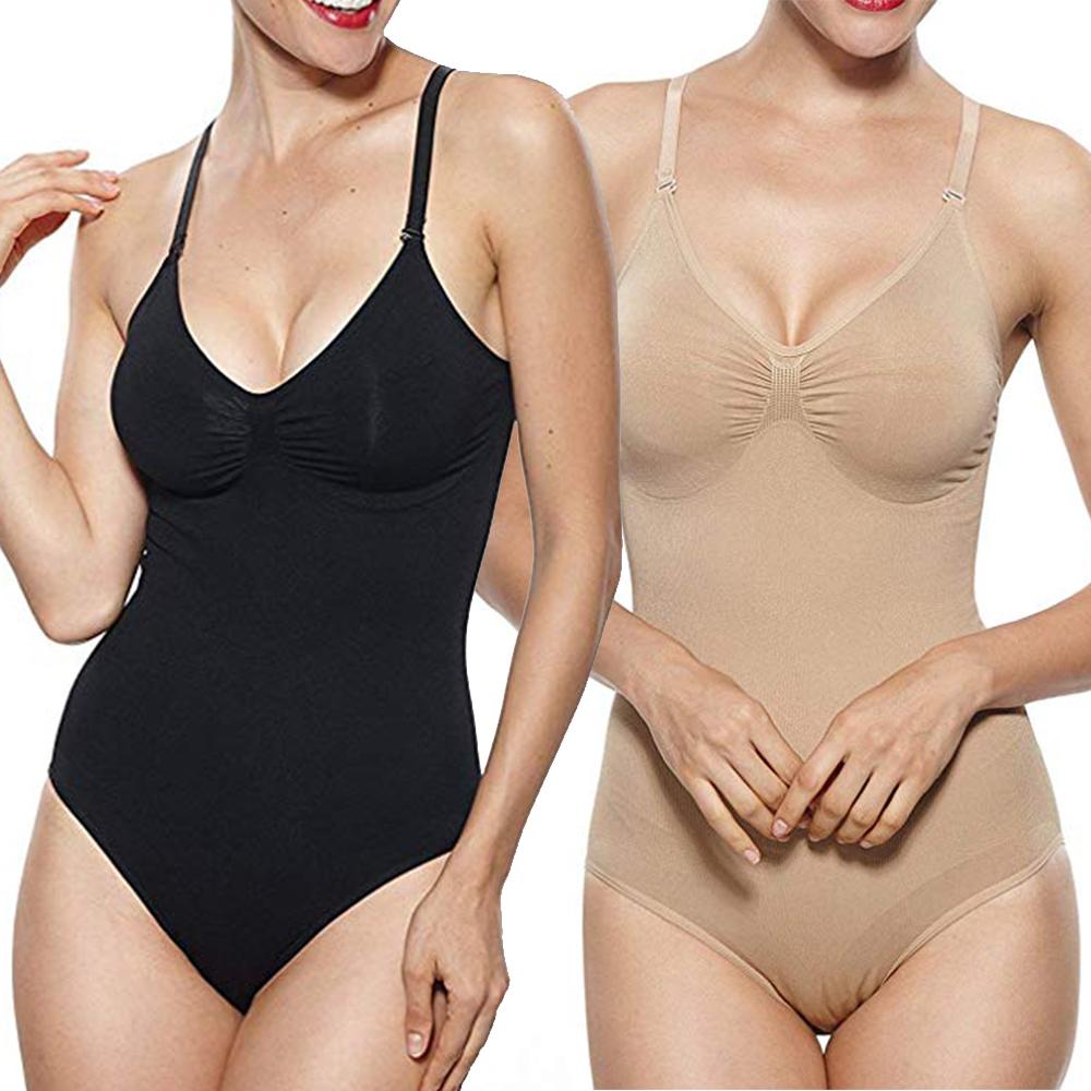 Gold Body Shaper Bodysuit Shapewear Trimmer Lift Firm Slim Control Shaper M or L
