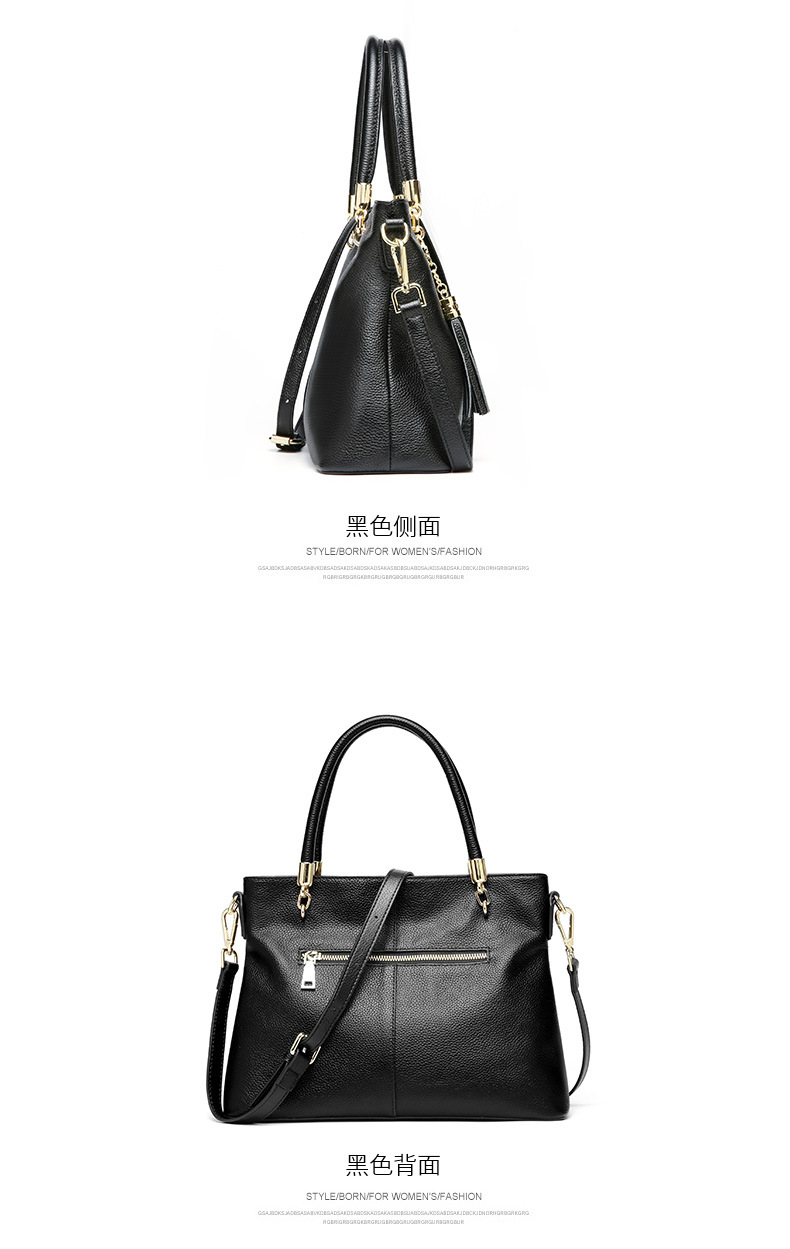 18b090ebf87e Women s Top Layer Genuine Leather Tassel Shoulder Bag Tote Handbag Purse  Women