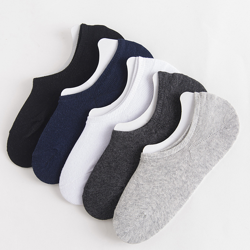 10 Paires Hommes Casual Coton Mocassin Mesh antidérapant invisible Low Cut No Show Chaussettes
