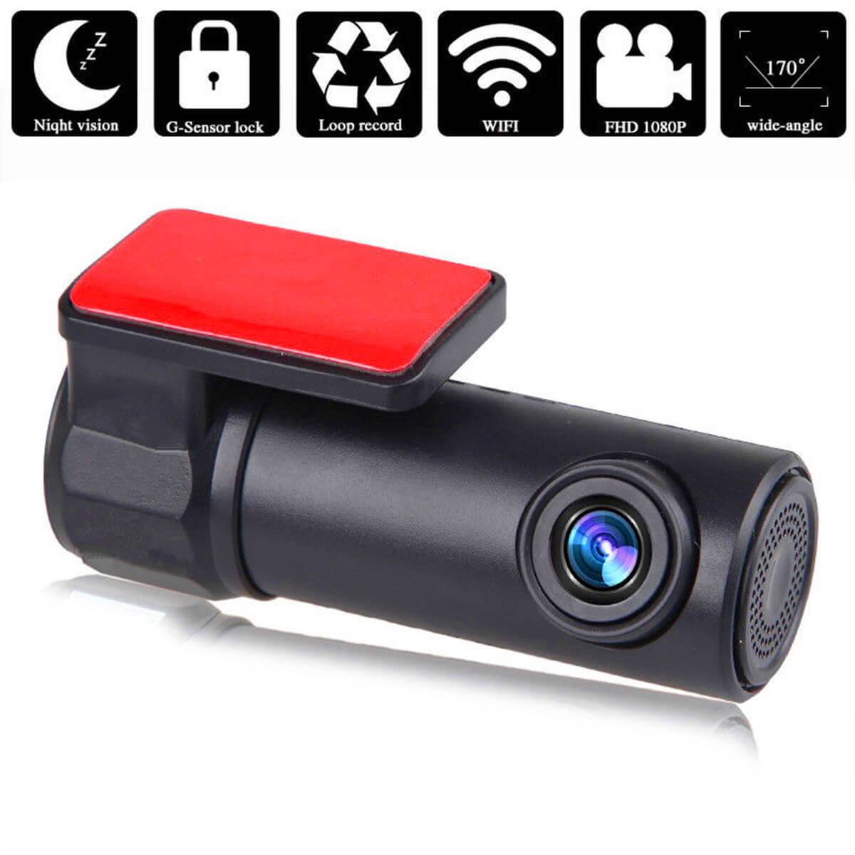 Latest 1080P WIFI Car Hiden DVR HD 1080P 170° Camera Video Dash Cam Recorder 4G
