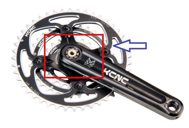 KCNC Road Mountain Bicycle Bike Crankset Arm Extractors Crank Bolts 2pcs Blue