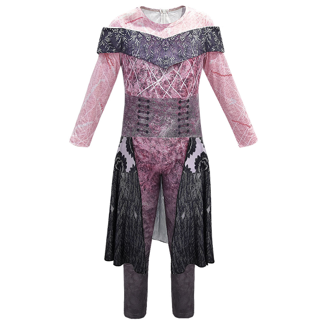 NEW Descendants 3 Evil Audrey Halloween Cosplay Costume Kids Jumpsuit Outfit