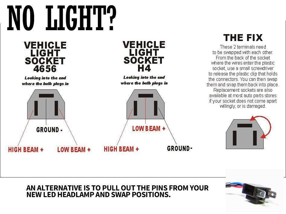 7x6 5x7 Led Projector Headlight Hi