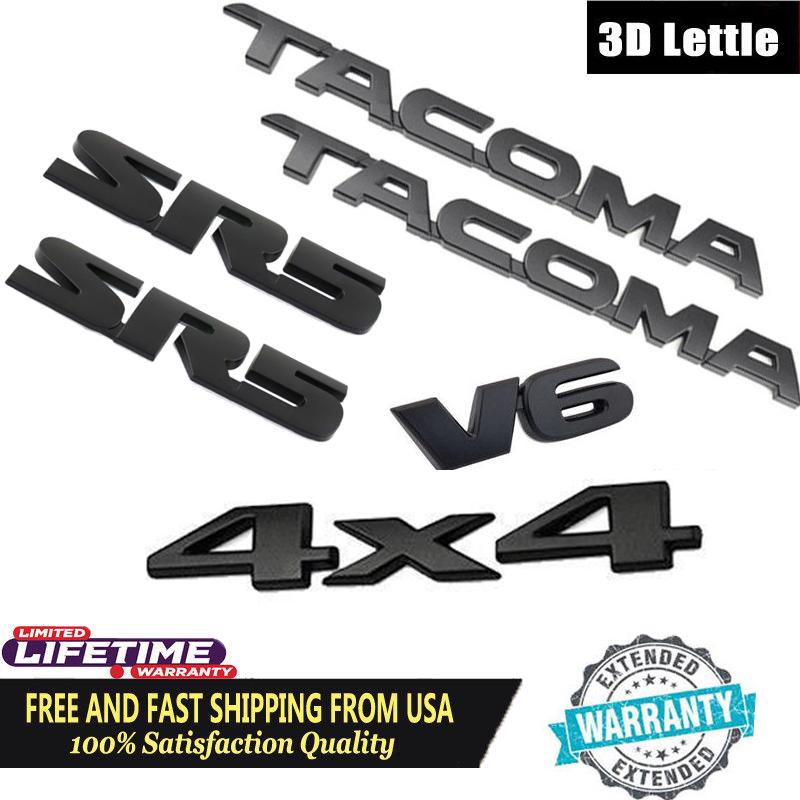 Toyota Tacoma 2005-2015 Chrome Emblems SR5 Kit Genuine OEM OE