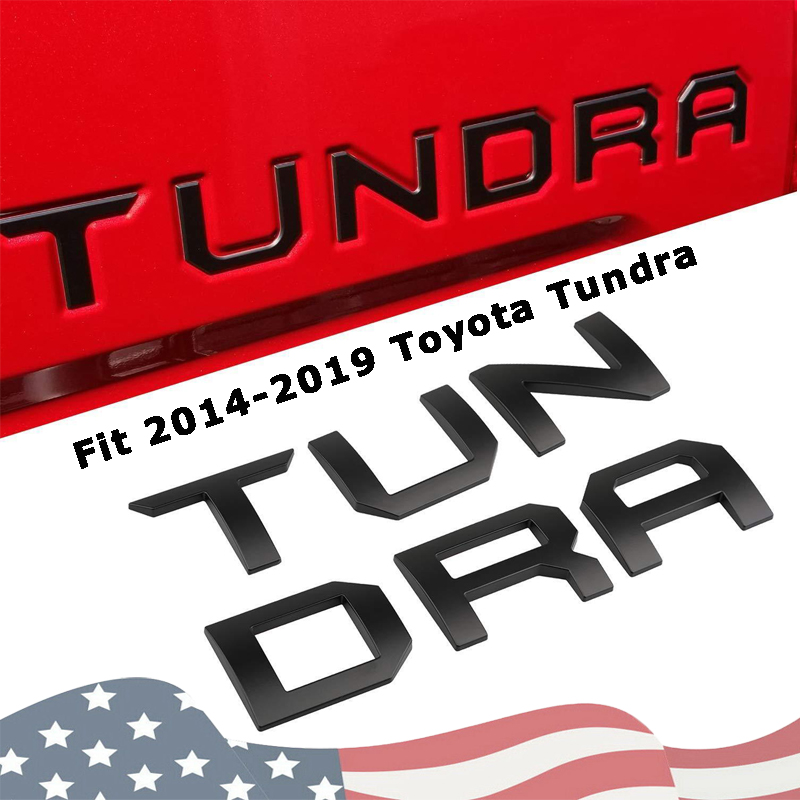 3d Abs Tailgate Inserts Letters For Toyota Tundra 2014