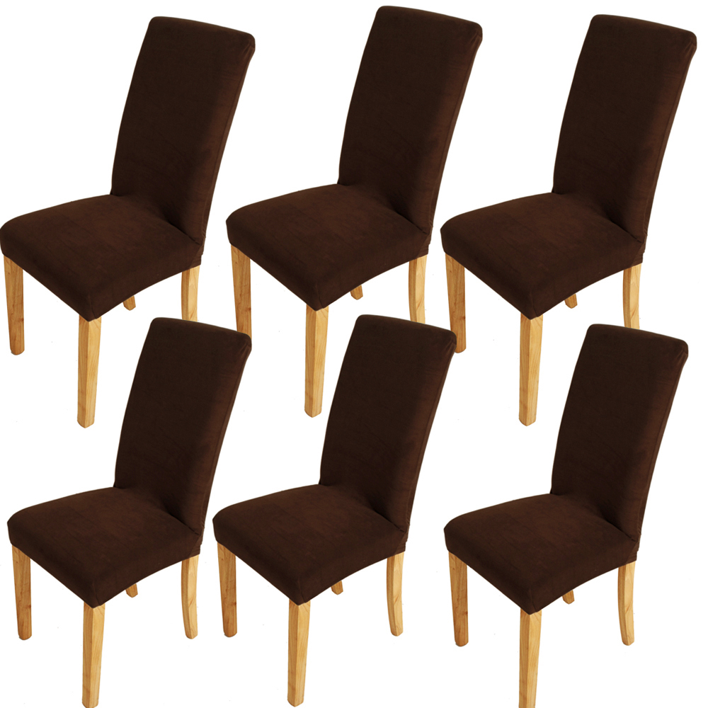 Cover Dining Room Chairs: 6x Super Fit Stretch Chair Cover Seat Protector Dining
