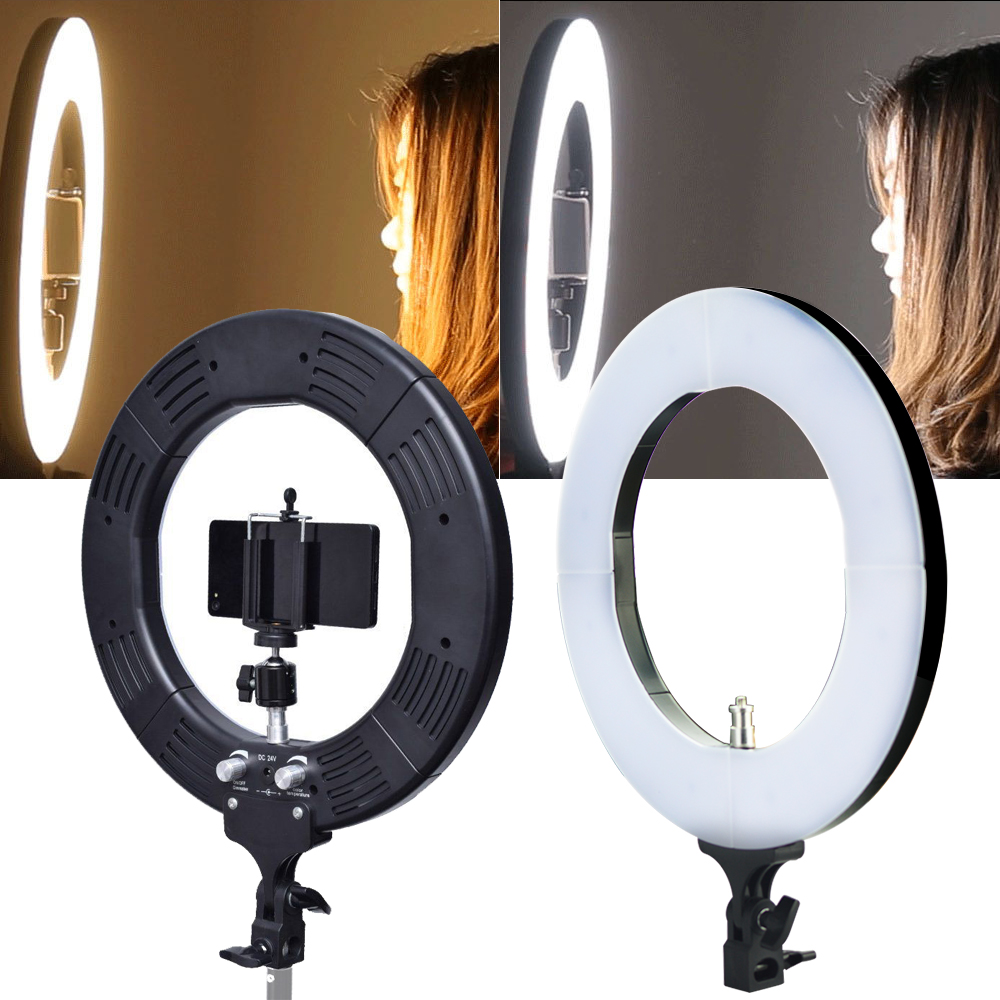 """Ring Light Stand Ebay: 19"""" 5500K Dimmable Diva LED SMD Ring Light Diffuser MIRROR"""