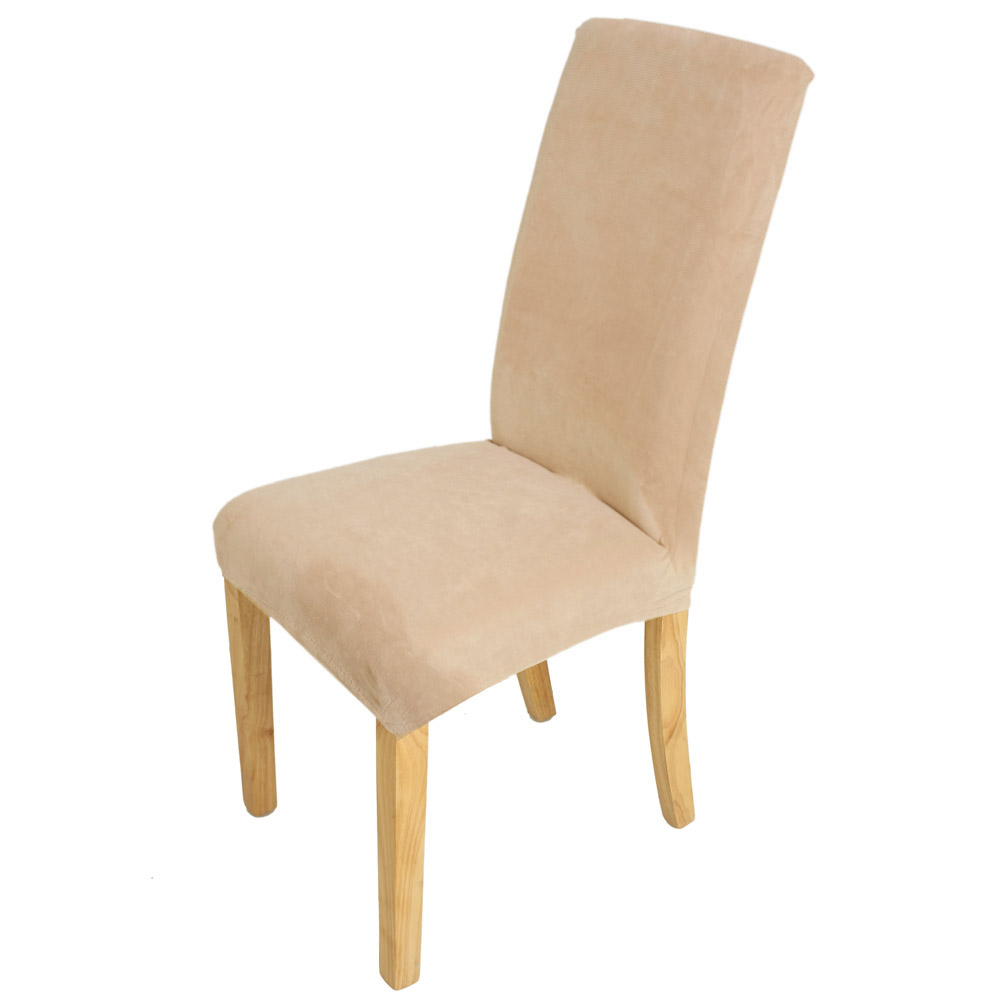 Dining Room Seat Cover: Stretch Super Fit Short Dining Room Chair Cover Slip
