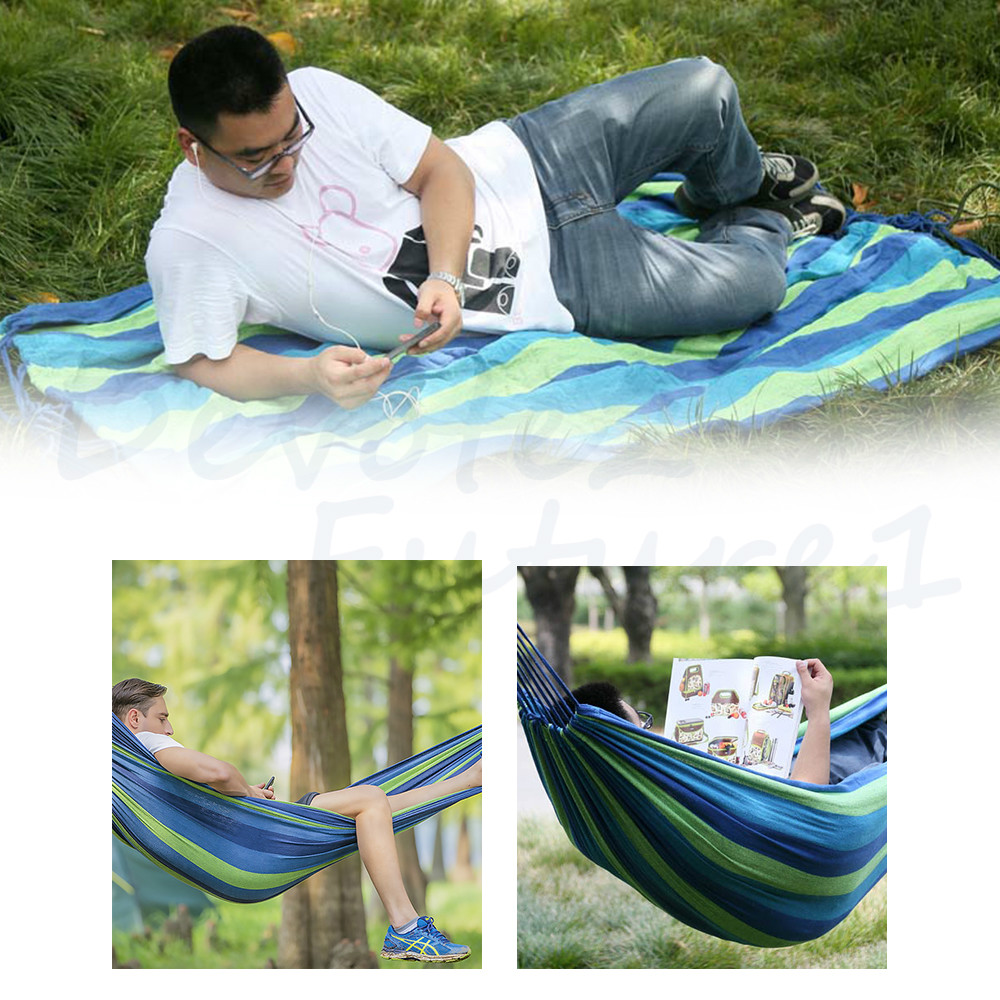 Garden Double Hammock Bed Heavy Duty Stand Frame Outdoor Swinging Camping Travel