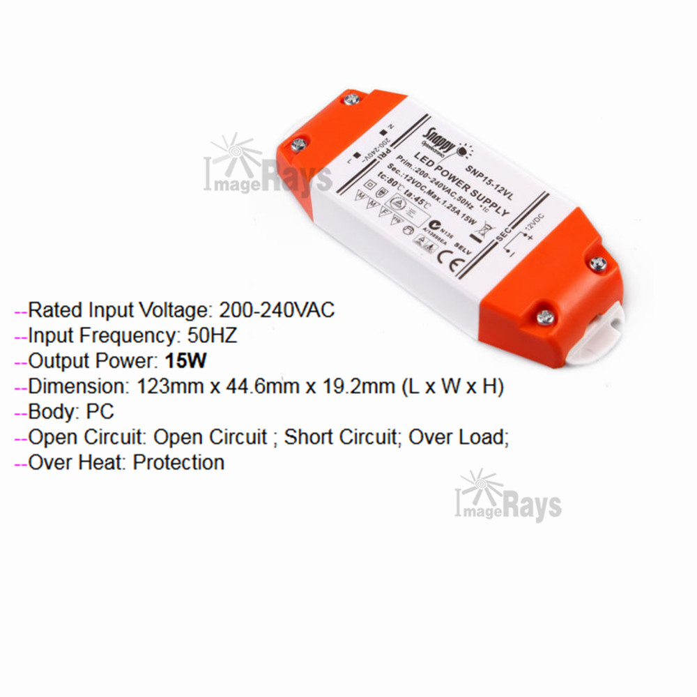 10 Pcs Of Led Driver 12v 15w Constant Voltage Power Supply Circuit Transformer For Mr16