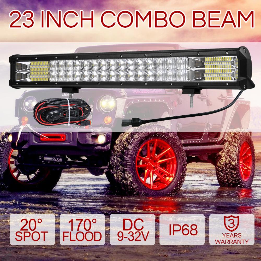"23inch  LED Light Bar Spot Flood Offroad Driving Work Lamp 4x4 Truck  23/"""