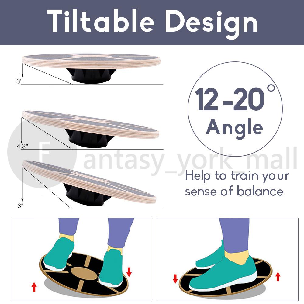 Balance Wobble Board 40cm Plastic Non Slip Surface Training Rehabilitation Gym
