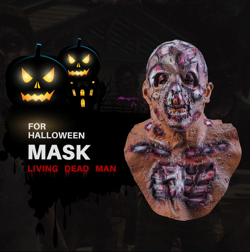 Halloween Cosplay Scary Costume Devil Zombie Latex Horror