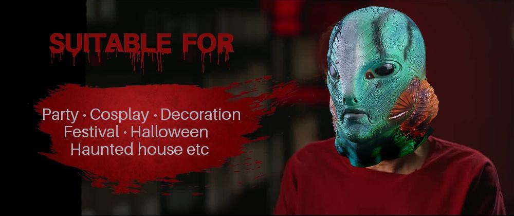 Halloween Prank Latex Tree Demon Mask Fancy Dress Cosplay Costume Stage Prop Hot