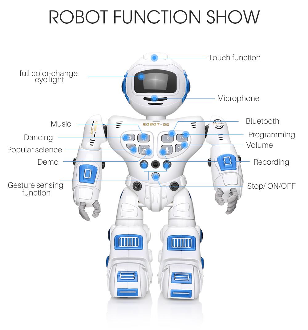 Toy Boy Girl Gift UK Remote Control RC Robot Gesture Sensor Singing Dancing Kids