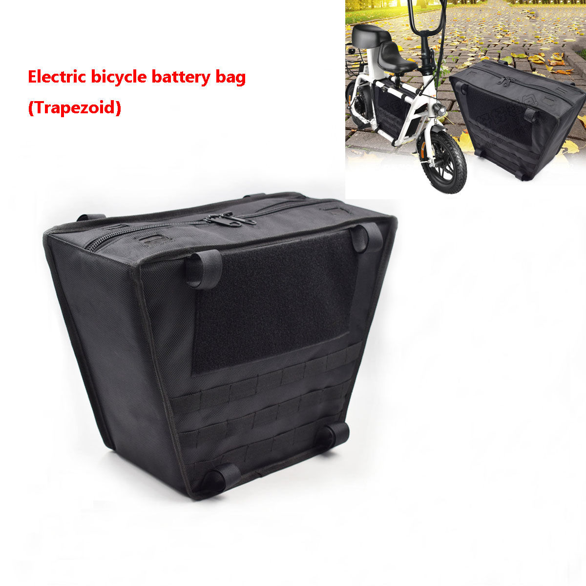 Rear Electric Bike Battery Pack Bag Storage Case Li-ion Lifepo4 Scooter Bicycle