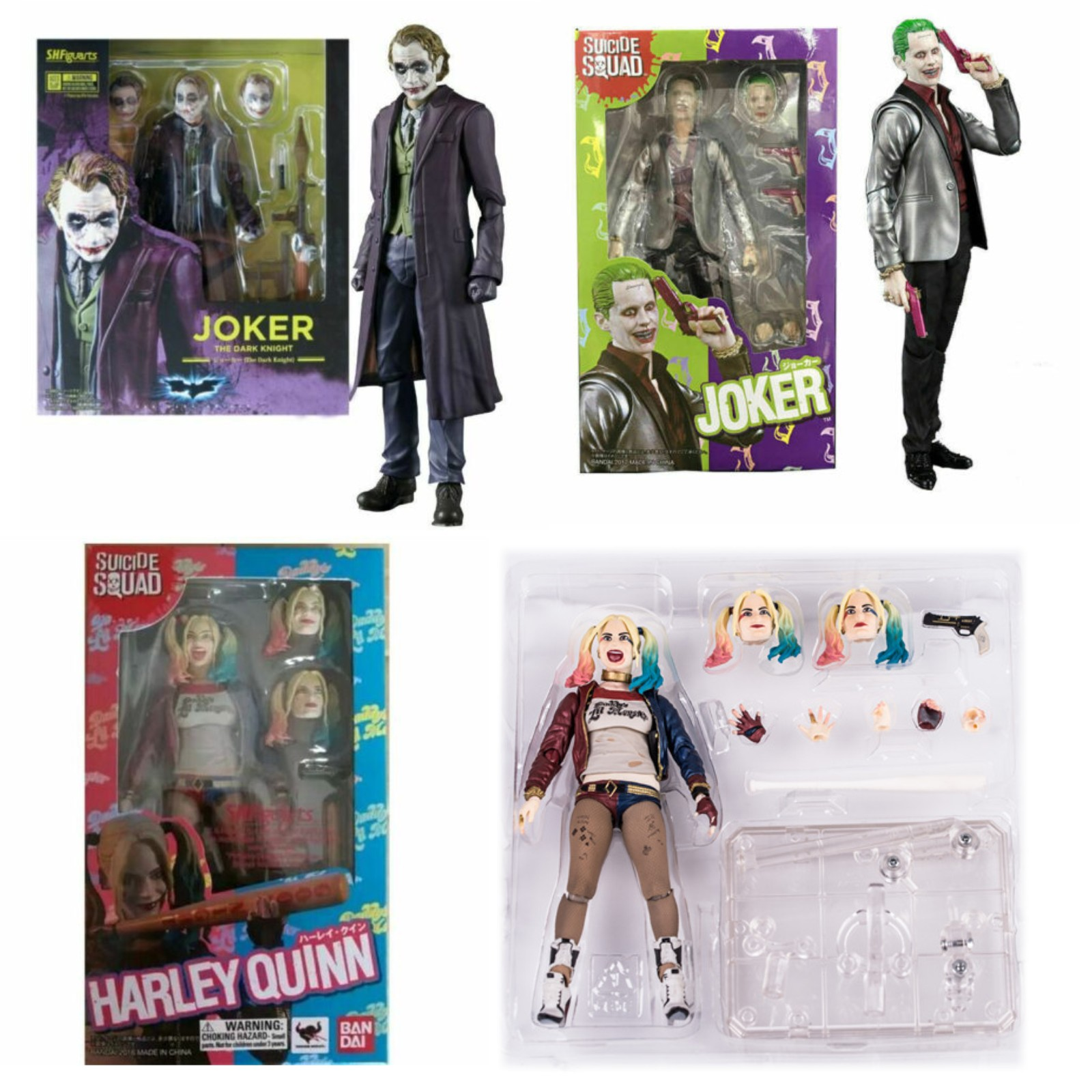 Suicide Squad Harley Quinn Action Figure S.H.Figuarts Collectible Toy In Box UK