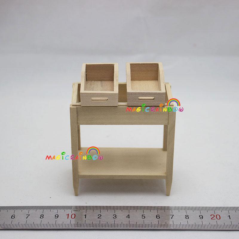 Holzregal Gartenmöbel 1:12 Puppenhaus Miniaturen ein Zoll-Skala Höhe ...