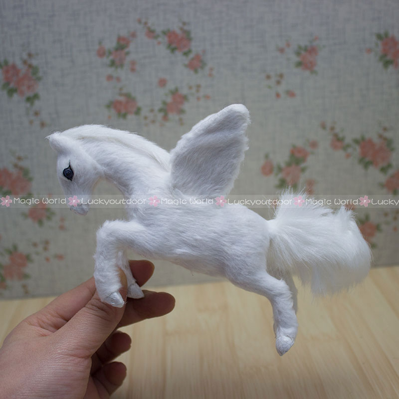 Furry Pegasus Flying Horse Wing Ornament Christmas Decoration ...