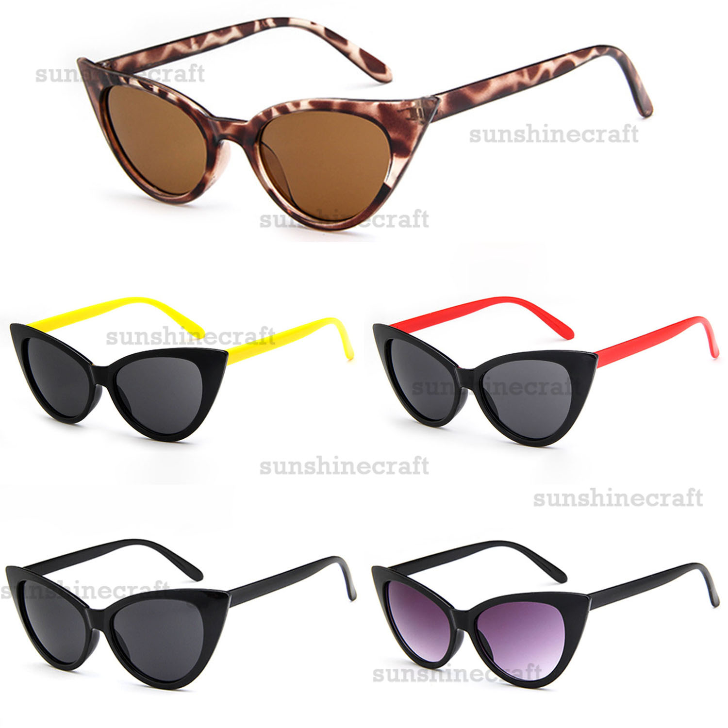 0cf241bff55 Details about New Arrival 5 Colors Lady Women Stylish Sunglasses 100% UV  Protection AU014 b