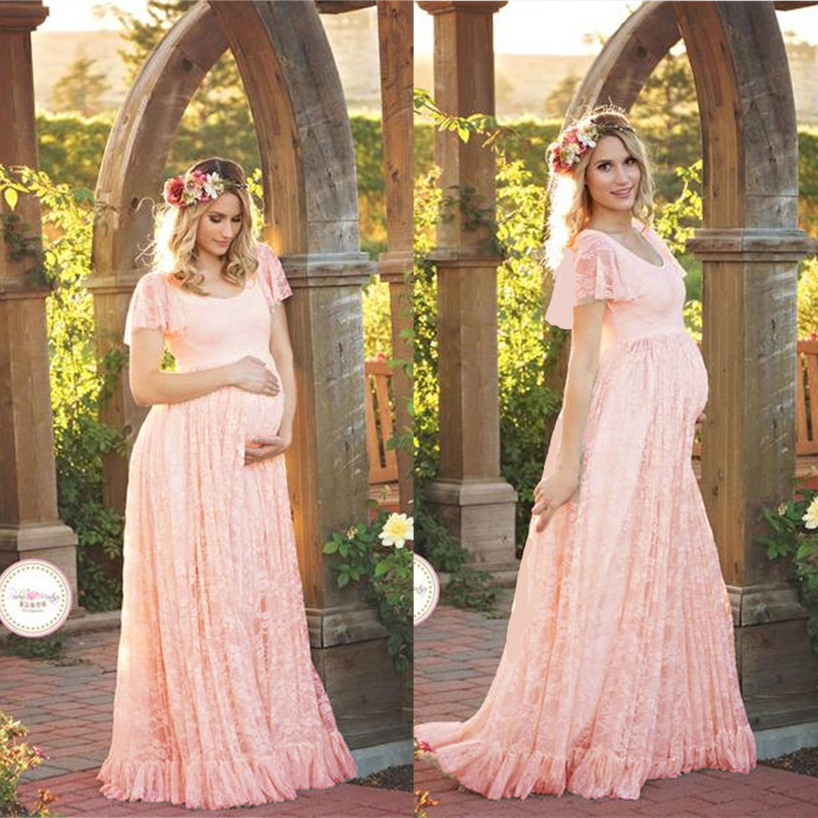 Maxi Pregnant Women Lace Gown Maternity Photography Photo Shoot ...