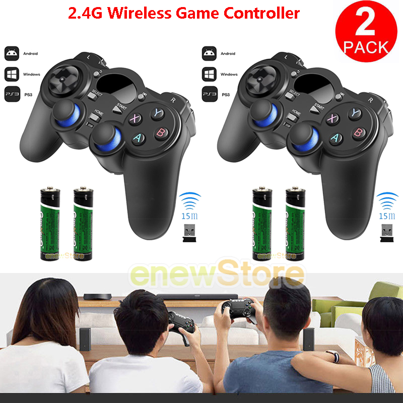 Details about 2PCS 2 4G Wireless Game Controller Gamepad Joystick for  Android TV Box Tablet PC
