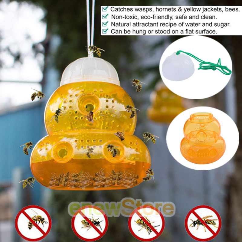 Wasp Fly Flies Insects Hanging Trap Catcher Killer Outdoor Fly