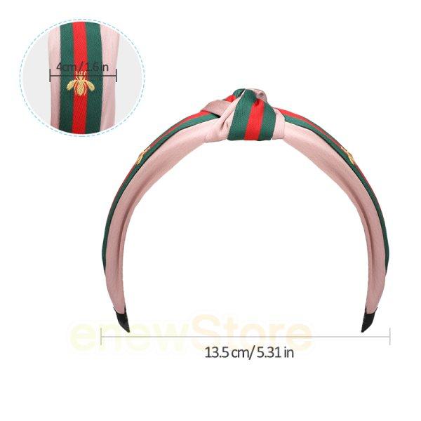 Details about 3Pcs/set Headband For Women Fashion Turban Striped Hair Band  Bee Pattern Print