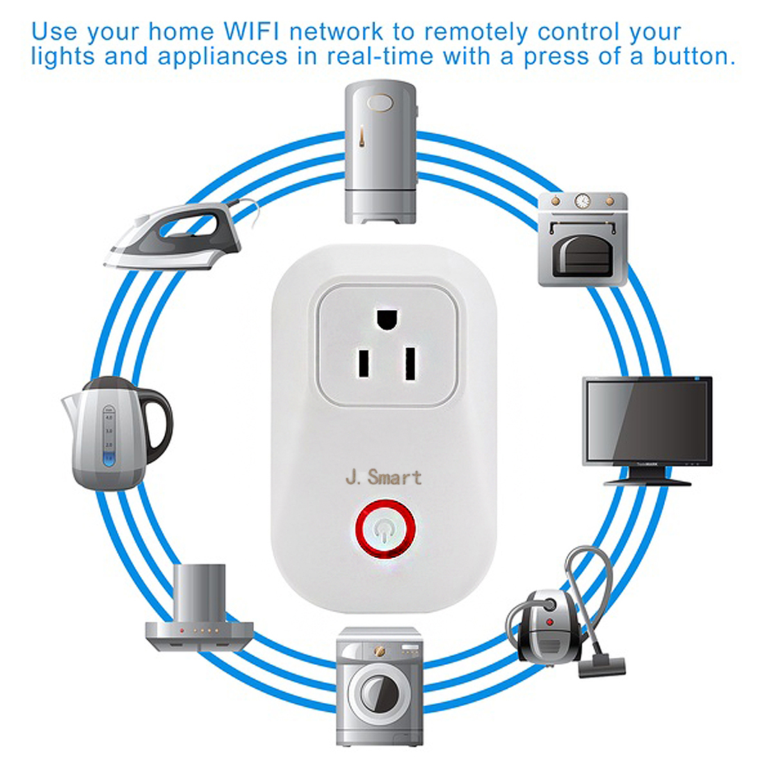 Wifi Smart Outlet Plug Wall Charger Google Amazon Alexa Timing Wiring Wireless Remote For Household Appliancesworks With Ios Android
