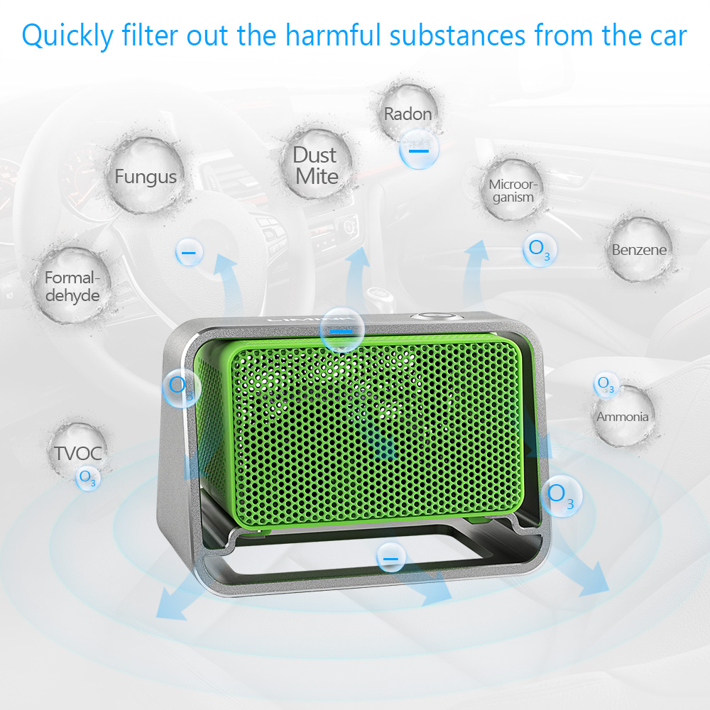 Details about Car Ozone Air Purifier Portable O3 Ozone Generator 500mg/h  Air Cleaner Machine