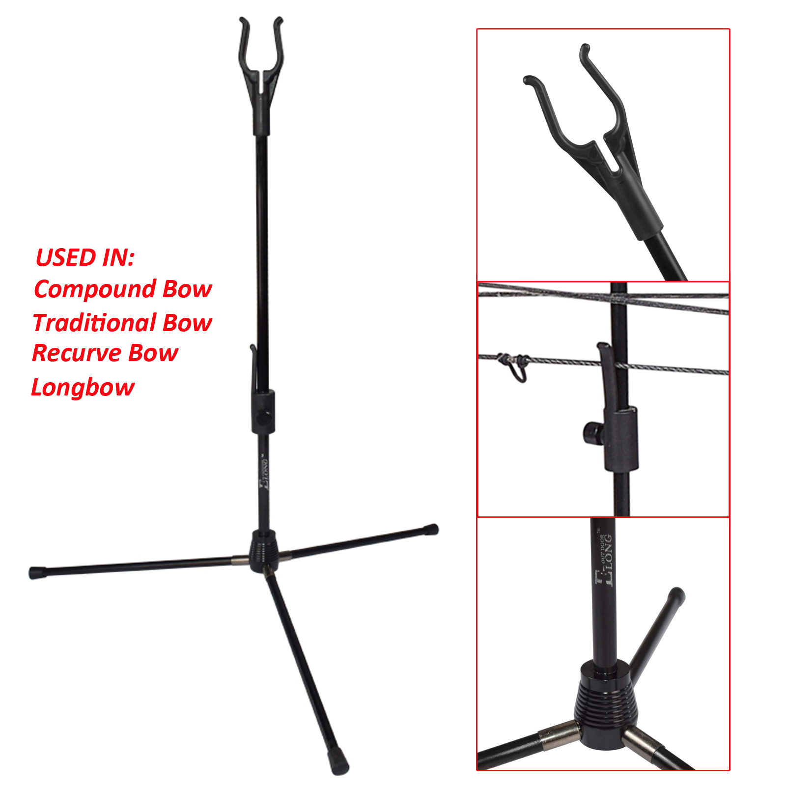 1pc Archery Bow Kick Stand Holder Suit For Recurve Compound Traditional Bow Bc