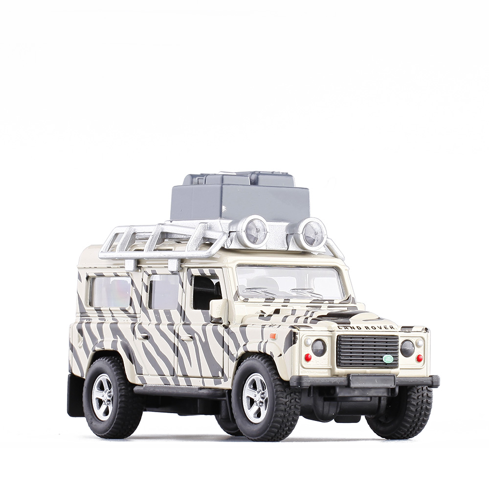c897c63eec087 Details about Land Rover Defender Zebra Pattern SUV Model Car Toys 1:32  Gift Alloy Diecast New