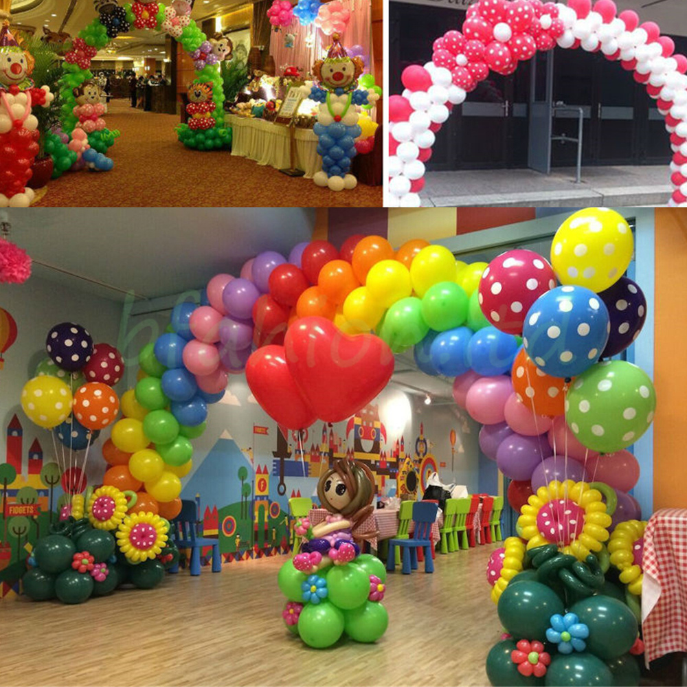 Shop sale promotion wedding event party decor balloon arch for Balloon arch frame kit party balloons decoration