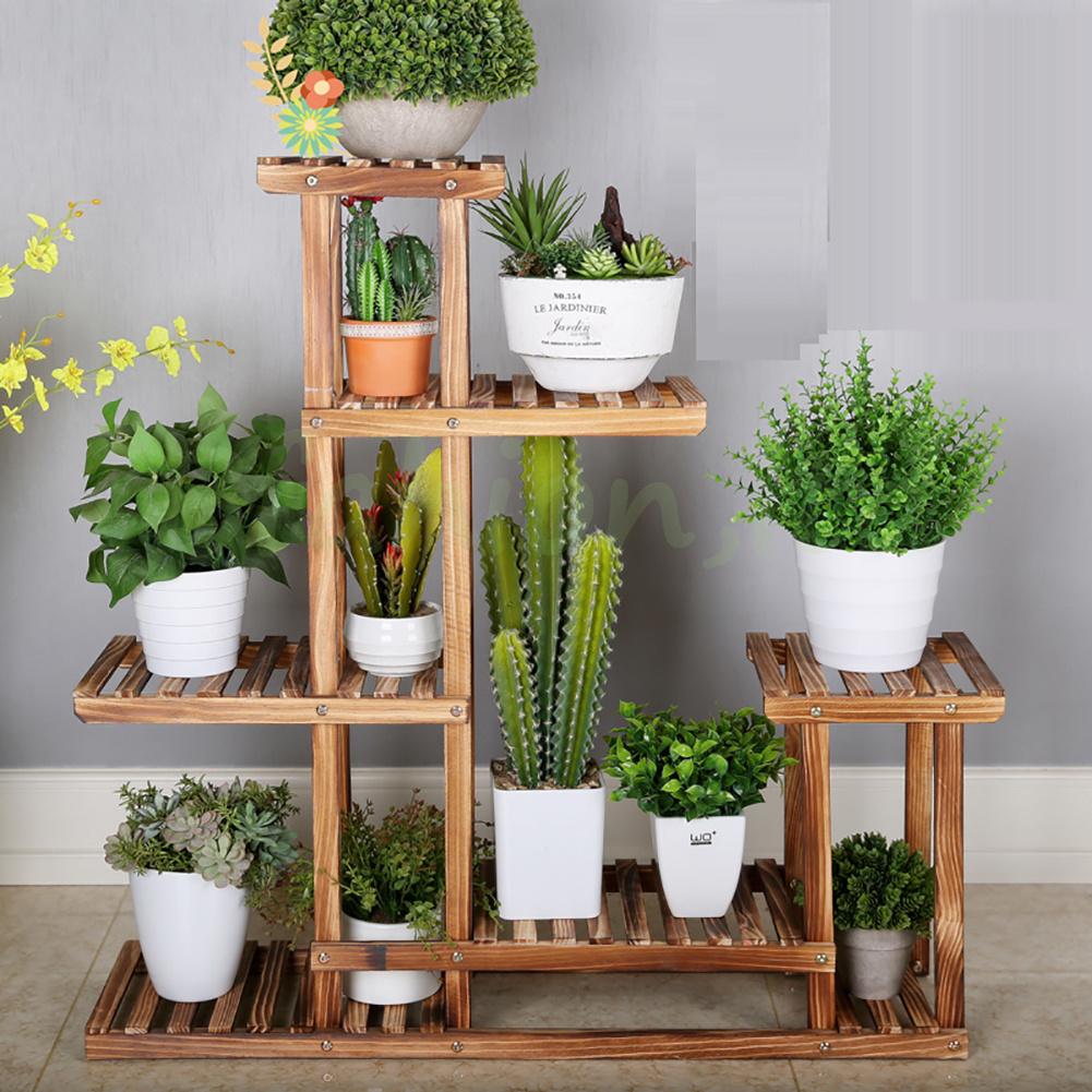 5 tier garden plant pot display etagere stand flower patio - Maceteros madera exterior ...