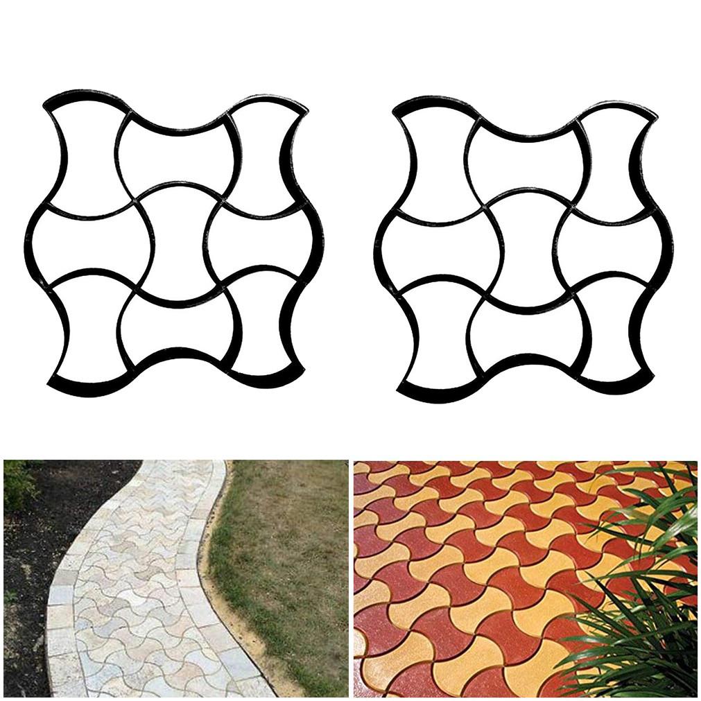 DIY Garden Plastic Path Paving Brick Mould Patio Path Maker Concrete Brick Mold Paving Stepping Cement Brick Stone Road Pathmate Auxiliary Tool Garden Courtyard Decoration Irregular Pattern
