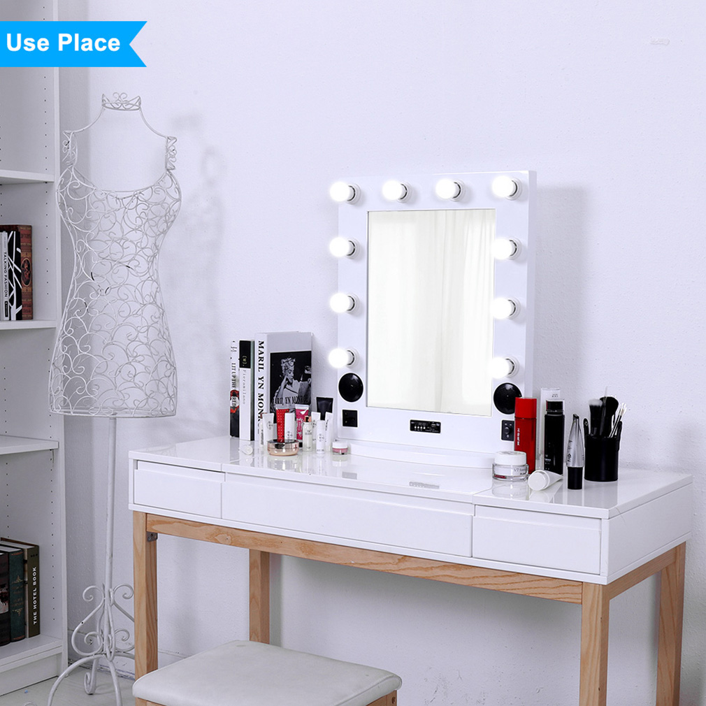 Led Lighted Vanity Makeup Mirror Stand Wall Mounted Artist Salon Beauty
