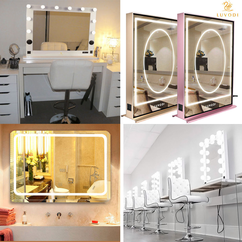 Large Led Touch Lighted Bathroom Vanity Mirror Wall Mirror For
