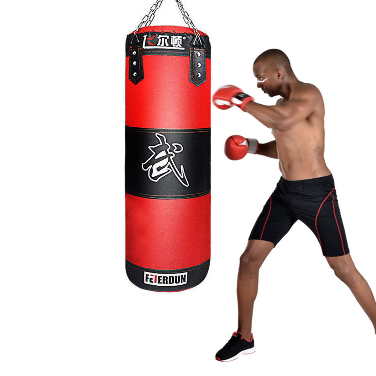Heavy Boxing Punching Bag 39 Sd Training Kicking Mma Workout W