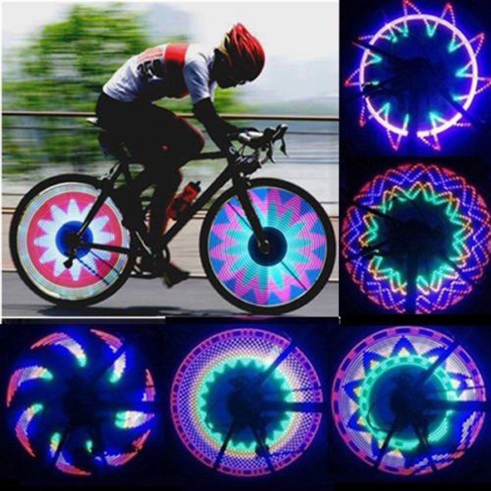 Details about  /1-4x 32LED Bike Cycling Bicycle Wheel Signal Tire Spoke Light 32Changes Colorful