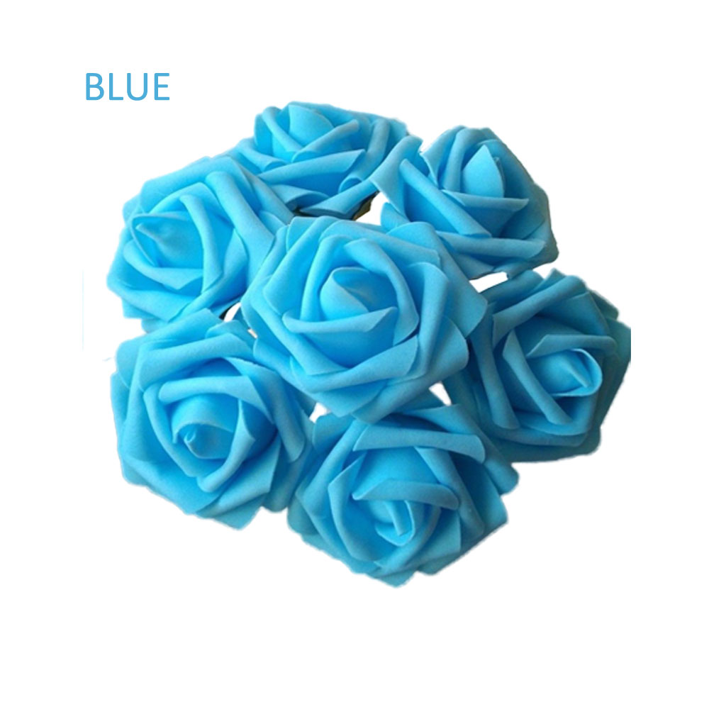 10pcs Fake Flowers Artificial Roses For Bouquet Wedding Table