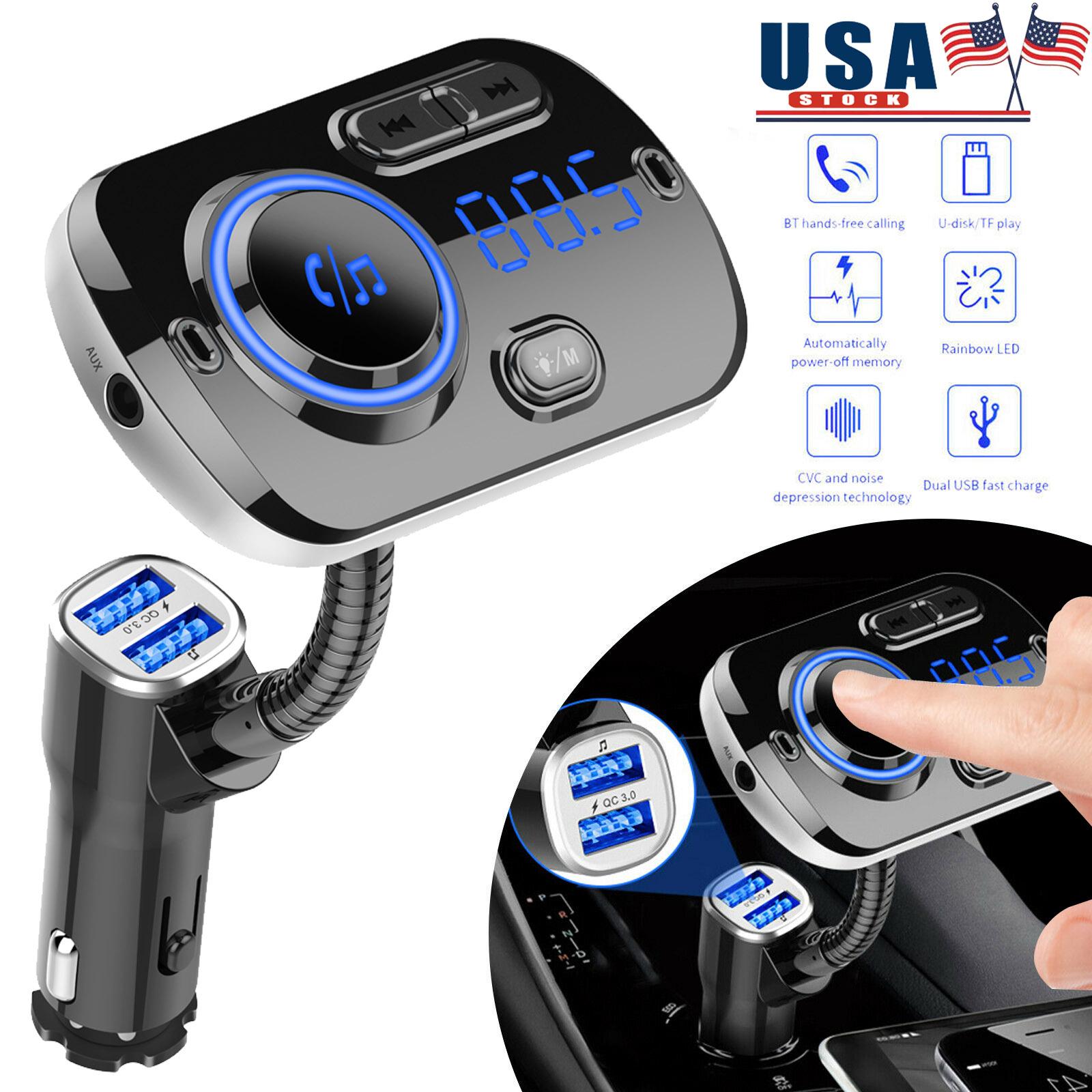 Bluetooth Car Kit FM Transmitter Wireless Radio Adapter USB Charger Mp3 Player K