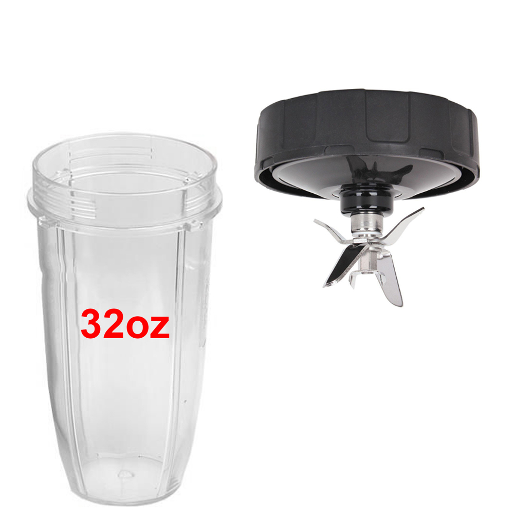 Blade Assembly /& 18//24//32oz Cup Lids For 900W 1000W Nutri Ninja Blender Auto-iQ