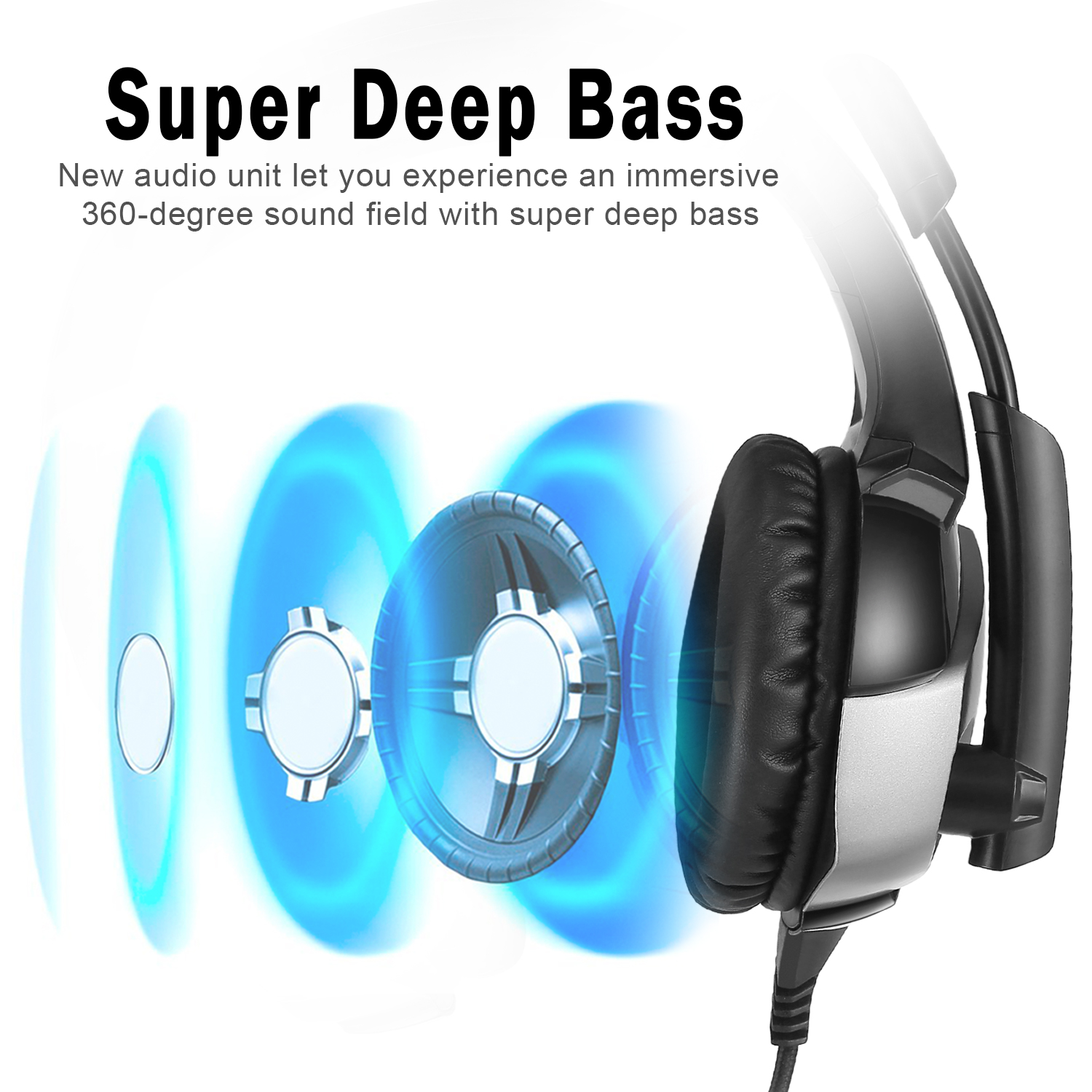 Gaming Headset 3.5mm Mic LED Headphones Stereo Surround for PS4 Xbox ...