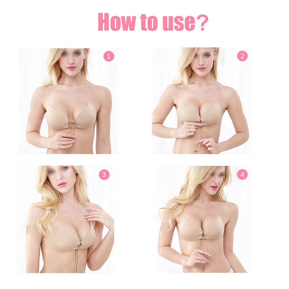 aba336889f Perfect Sculpting Lace-Up Strapless Cleavage Boosting Breast Lift Bra  backless