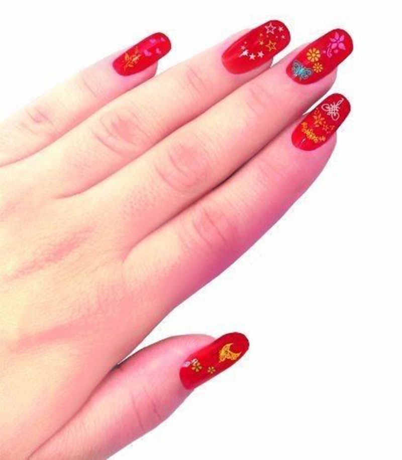 30 Manicure Plate Set Nail Art Stamping Kit with Polish Stamper and ...