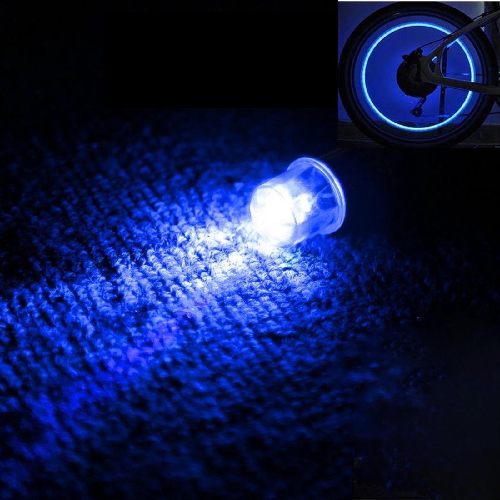 4pc Car Motorcycle Bike Wheel Tire Valve LED High Light Neon Flash Rim Tyre Lamp