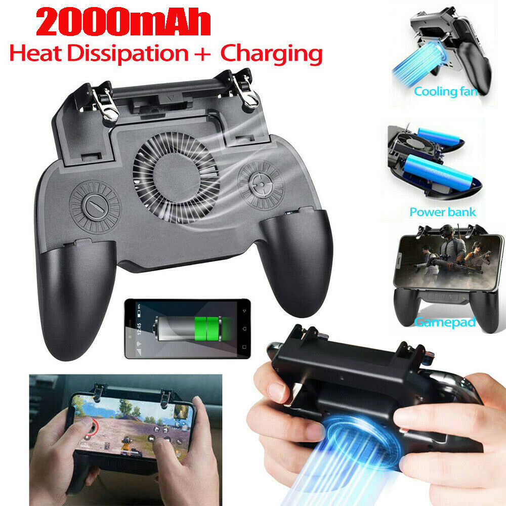 Details about Mobile Phone Game Controller Joystick Cooling Fan Gamepad for  Android IOS