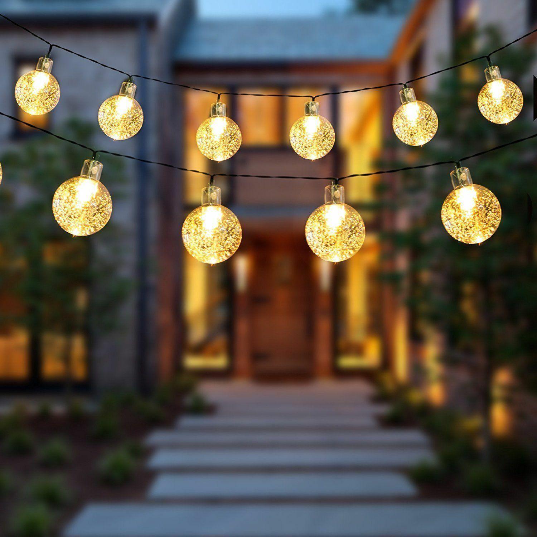 21FT Outdoor String Lights 30 LED Solar Bulb Patio Party Yard Garden Wedding USA